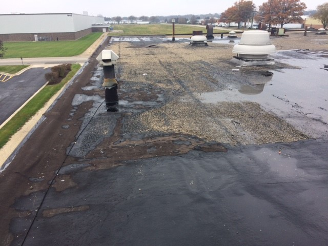 Water Damaged Commercial Roof