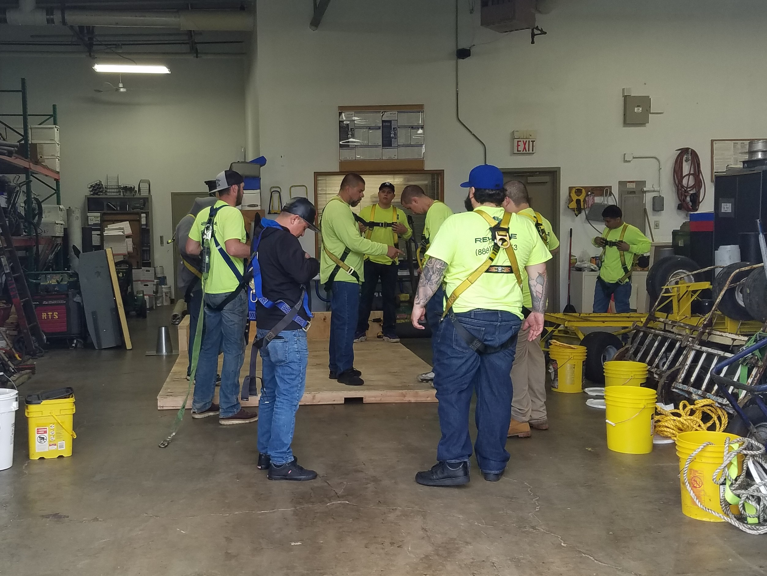 Safety harness training5-9-2019