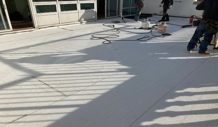 Application of Modified Bitumen Roof - Reliable Roofing